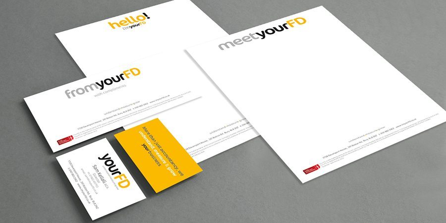 Stationery design for yourFD