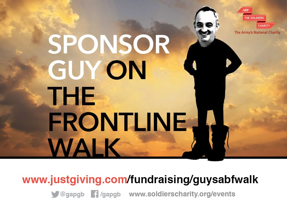 Guy's Walking For The Soldier's Charity